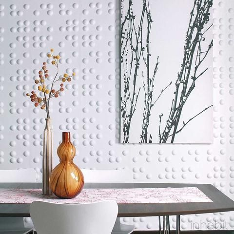 dotted 3D wall tiles look modern and refreshing