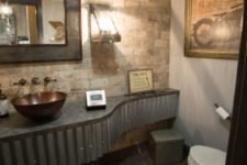 27 corrugated metal bathroom vanity