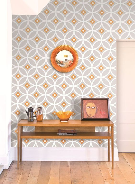Decorating with retro wallpaper 32 eye catchy ideas Retro home ideas