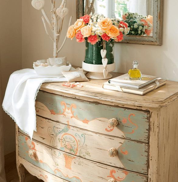 vintage hand-apinted dresser is always a statement