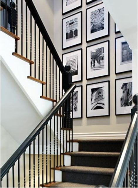a black and white gallery wall is an elegant idea for every home