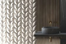 29 stunning braided 3D wall panel turns the whole bathroom into a masterpiece