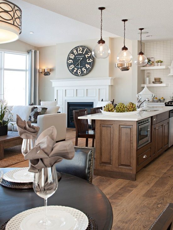 Kitchen And Living Room Interior Design: 30 Spacious And Airy Open Plan Kitchen Ideas