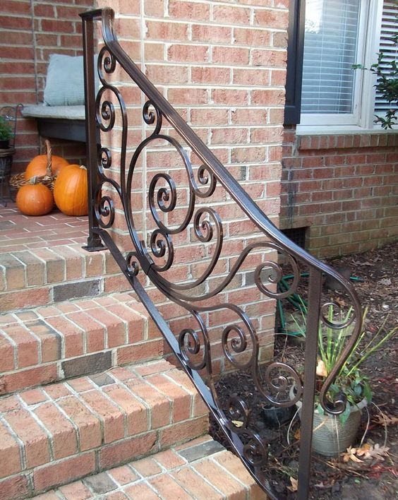 cool wrought iron railing piece with a pattern