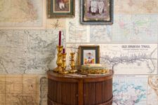 30 travel maps wall coverings, you can even create your own ones showing your trips