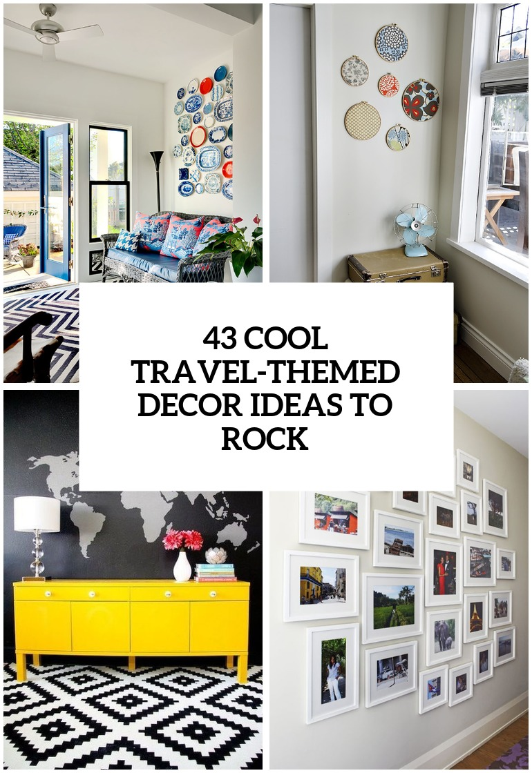 31 cool travel themed home d cor ideas to rock digsdigs - Decoration mural design ...