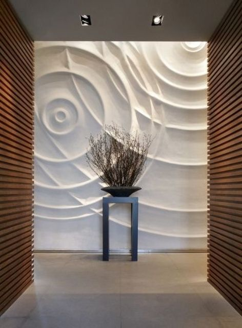 swooping lines 3D panels to make your hallway amazing