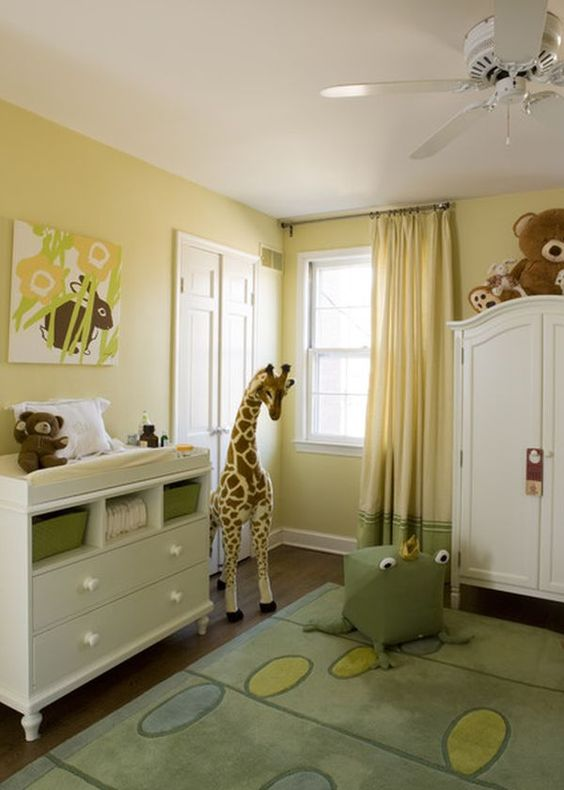light yellow and green nursery is a vivacious and welcoming idea
