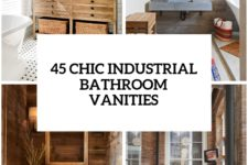 32 trendy and chic industrial bathroom vanity ideas cover