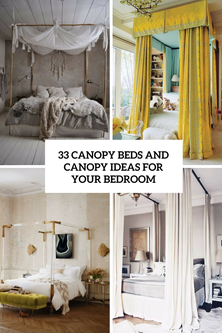 190 the coolest bedroom designs of 2017 digsdigs - Canopy designs for beds ...