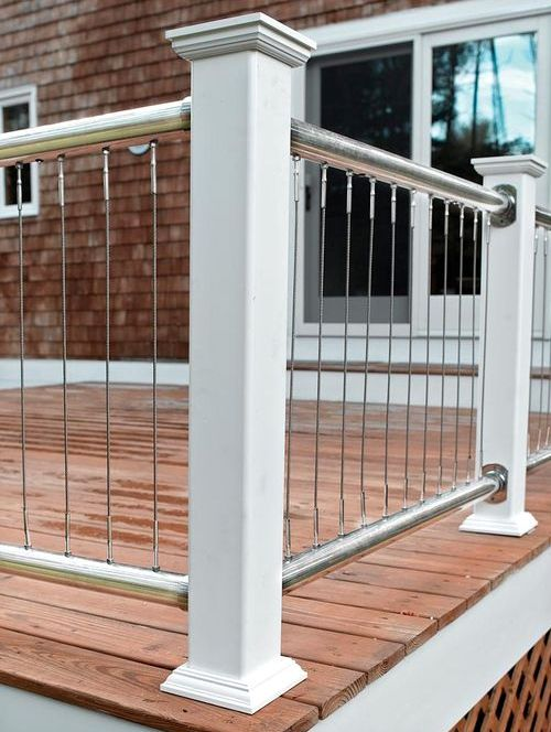 33 Deck Railing With Posts And Vertical Cables