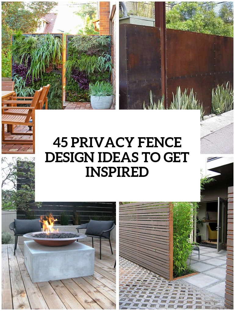 34 privacy fence design ideas to get inspired - Fence Design Ideas