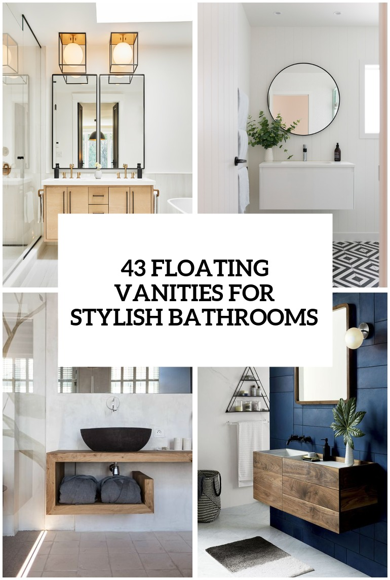 Delightful 36 Floating Vanities For Stylish Modern Bathrooms