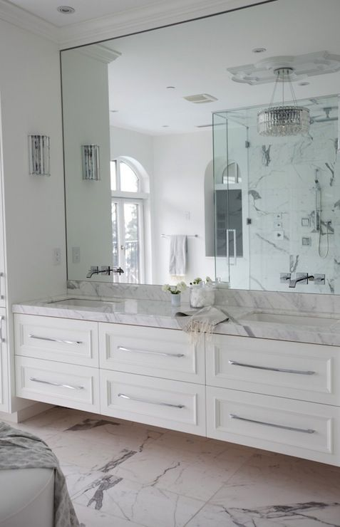 White Marble Bathroom : Floating vanities for stylish modern bathrooms digsdigs