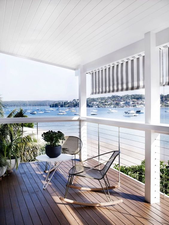 38 edgy cable railing ideas for indoors and outdoors for Beach house deck ideas