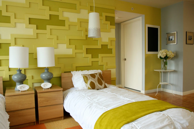 a textured wall could be DIYed (Jen Chu Design)
