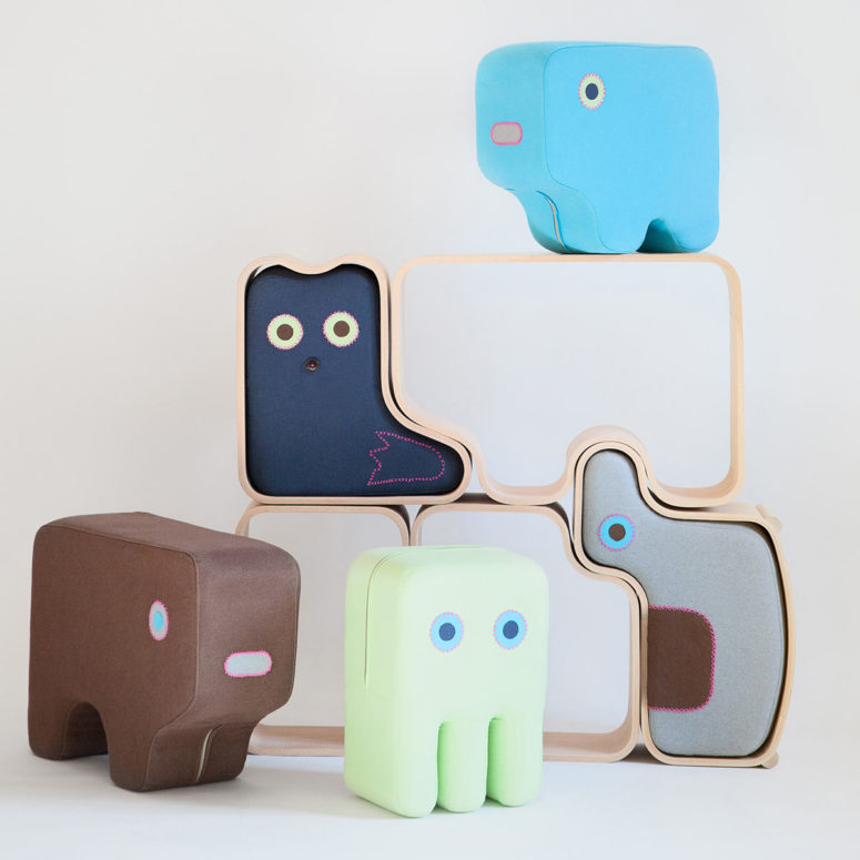 Animaze collection is unique soft furniture shaped as animals to encourage kids to play