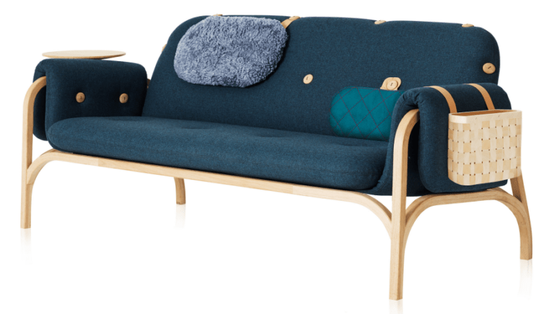 Ergonomic Buttoned Down Couch With Modular Appeal