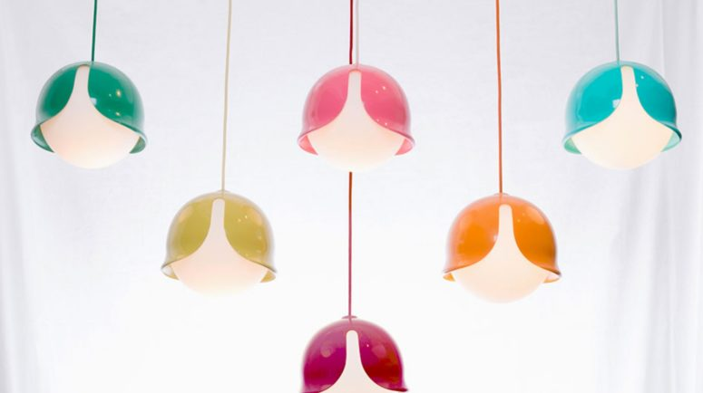 Colorful Snowdrop Pendant Lamp With A Fun Look