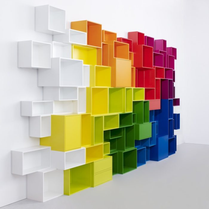 The Cubit is a flexible and functional shelving system available in many configurations and colors