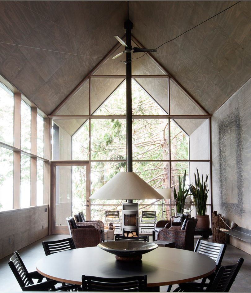 minimalist forest house