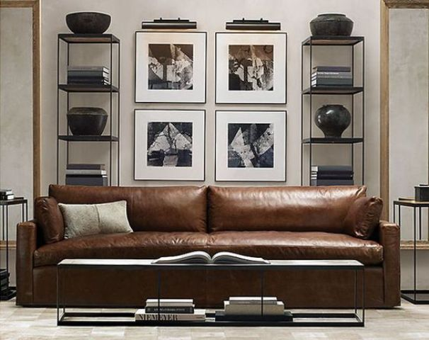 a gorgeous brown leather sofa just screams a masculine space  there s  nothing better. 30 Masculine Living Room Furniture Ideas To Rock   DigsDigs