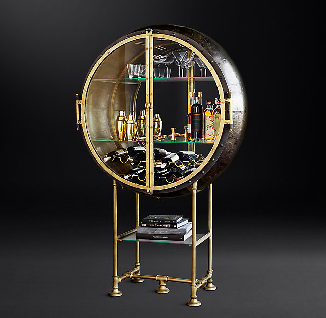 Display the bottles and glasses at their best and create a super outstanding home bar with Porthole Bar