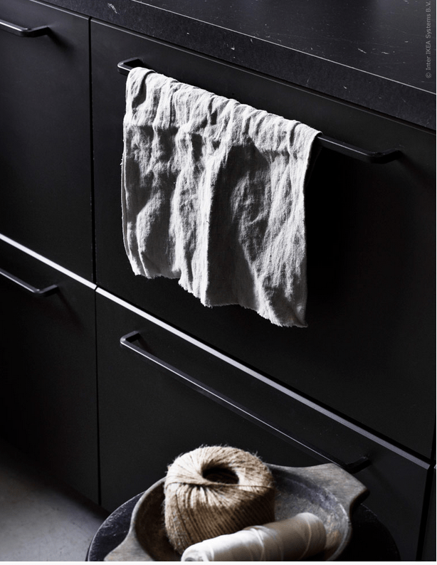 Large handles can be used as towel holders and to hang something you need