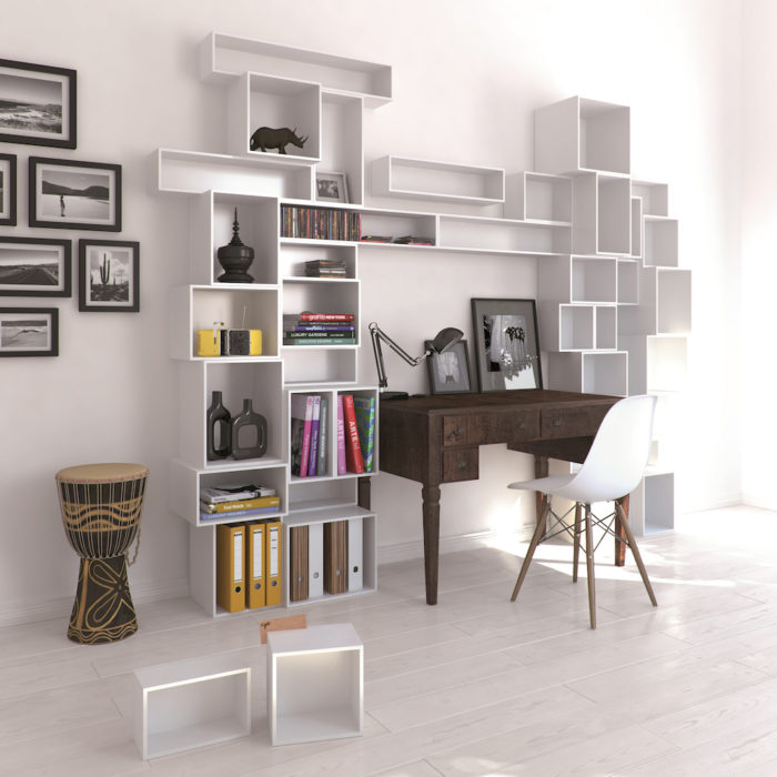 flexible shelving system design