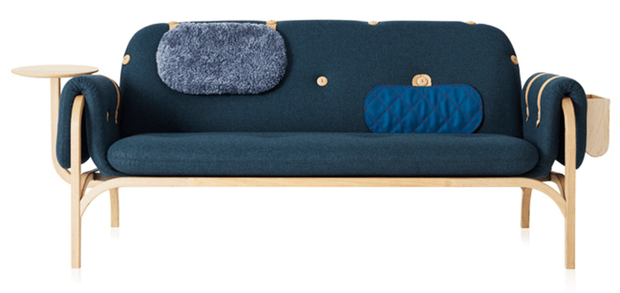 Padding, sheepskin, storage and tables can be adjusted to the sofa any time you need it