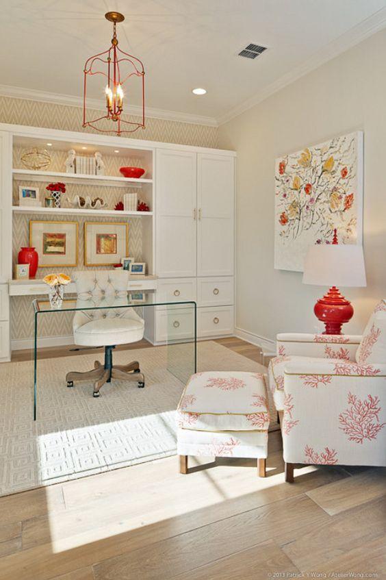 a sheer acrylic desk is a nice idea for a modern home office