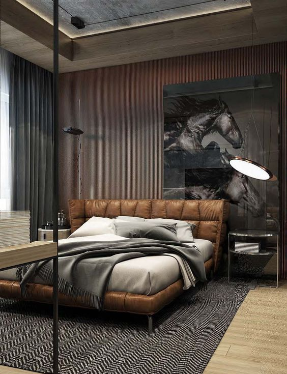 35 masculine bedroom furniture ideas that inspire digsdigs for Manly bedroom designs
