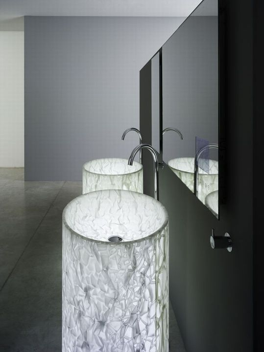 Alicrite free-standing sinks with internal light look wow