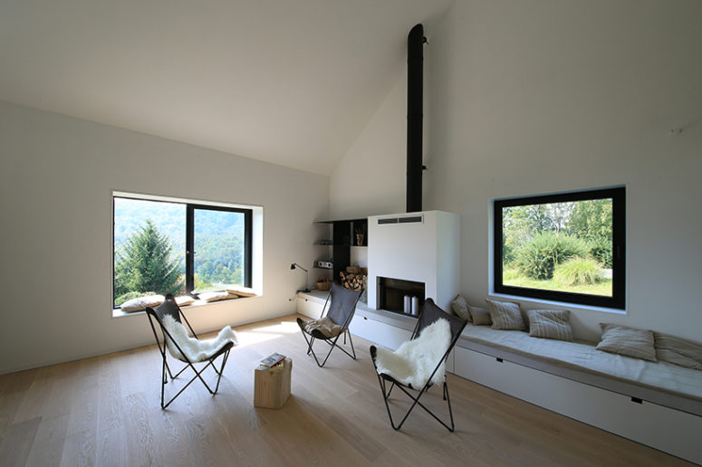 Black Wooden Country House With Modern Interiors DigsDigs