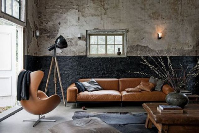 Rock A Cool Leather Sofa And Matching Chairs To Make Your Living Space  Refined