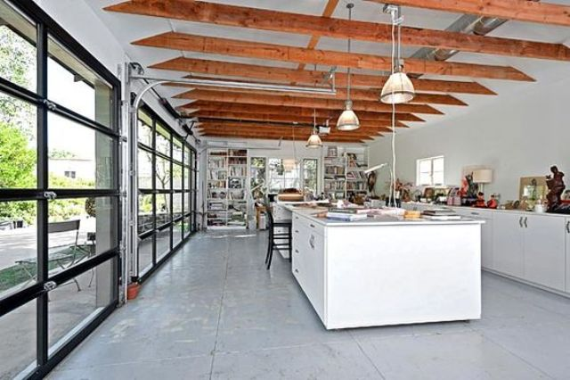 Roll Up Garage Doors For A Kitchen Bring Much Light In And Serve As A Door