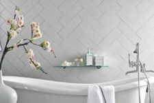 elegant bathroom with a clawfoot tub