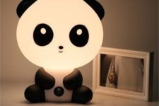 06 a panda table lamp – press its belly button and this charming lamp will lighten up the room with a soft glow
