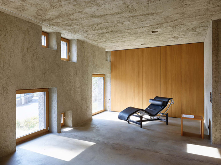 Natural oak and leather add texture to the interiors and make them look more edgy