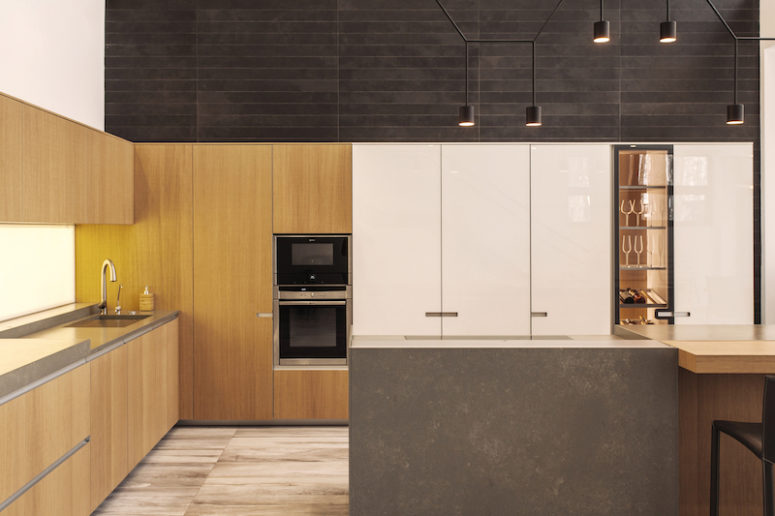 There's plenty of storage in the kitchen but the decor is minimalist and nicely concealed