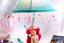 08 bold Ariel the mermaid table lamp with crystals is ideal for a girl's sea-inspired room
