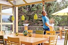 08 open up your dining room with a roll up garage door