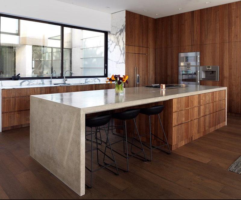 bold wood kitchen design