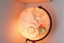 10 globe lamp for a travel-themed nursery or a gnder neutral room
