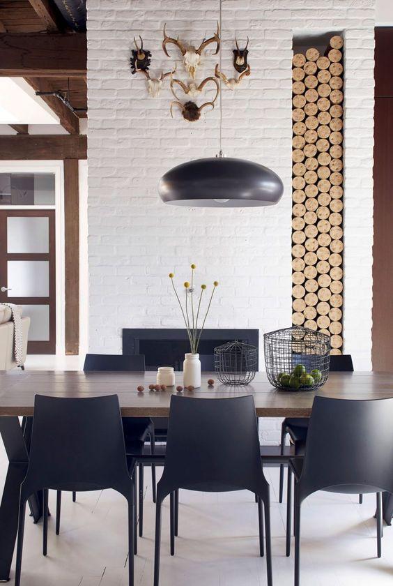 34 masculine dining space furniture ideas to rock digsdigs - Elegant minimalist loft design in masculine vibe wooden decoration ...