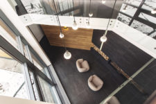 13 Wood and glass are often put together in the design and the result is a well-balanced look