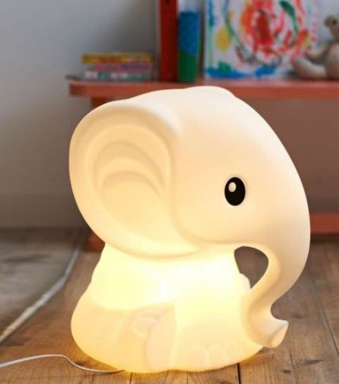 glowing elephant lamp can be placed on a bedside table on on the floors