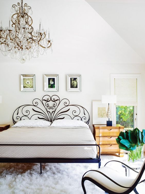 fabulous wrought iron bed for a girlish feel
