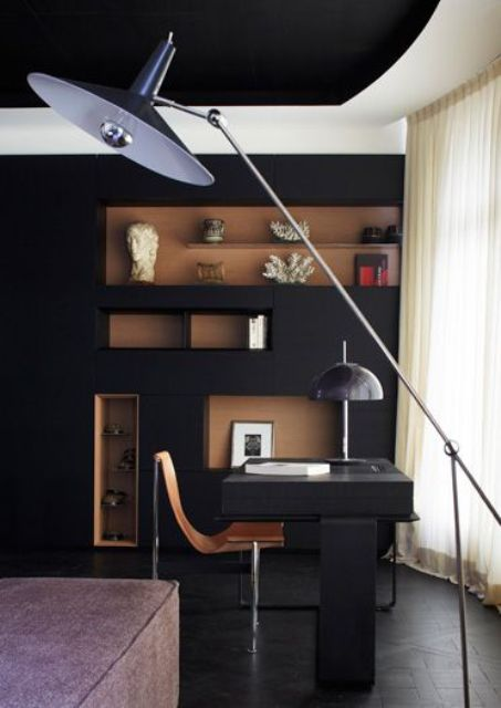 wall niches of a different shade make a bold statement