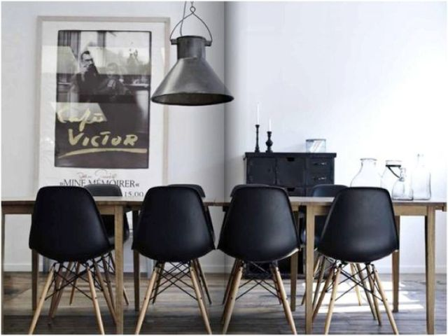 Black Leather Nailhead Dining Chairs